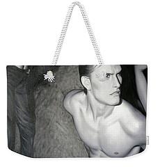 original Oil painting gay man body male nude art on canvas-201 Weekender Tote Bag