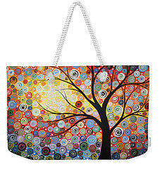Original Painting Print Titled Celestial Sunset Weekender Tote Bag
