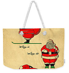 Original Patent For Santa On Skis Figure Weekender Tote Bag