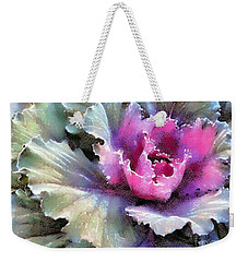 Ornamental Cabbage And Kale - Purple Frost Weekender Tote Bag