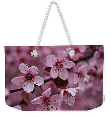 Weekender Tote Bag featuring the photograph Ornamental Cherry Tree - Blossoms by Jani Freimann