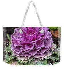 Ornamental Purple - Flower Art Weekender Tote Bag