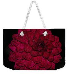 Ornate Red Dahlia Weekender Tote Bag