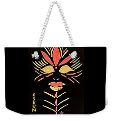 Weekender Tote Bag featuring the painting Oshun by Cleaster Cotton