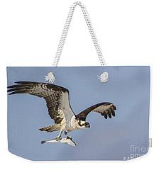 Osprey With Dinner Weekender Tote Bag