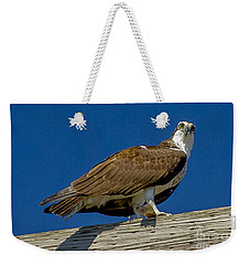 Osprey With Fish In Talons Weekender Tote Bag by Dale Powell