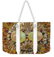 Weekender Tote Bag featuring the tapestry - textile Osun Sun by Apanaki Temitayo M