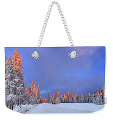 Other Side Of A Winter Sunset Weekender Tote Bag by David Andersen