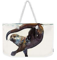 Otter Study II  Weekender Tote Bag by Mark Adlington