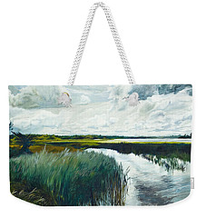 Otter Tail River From Bridge Weekender Tote Bag