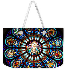 Our Blessed Mother Weekender Tote Bag by Debby Pueschel