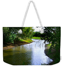 Weekender Tote Bag featuring the photograph Our Fishing Hole by Peter Piatt