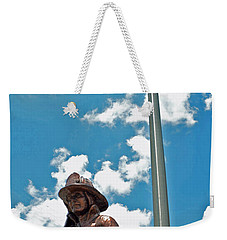 Weekender Tote Bag featuring the photograph Our Heroes by Charlotte Schafer