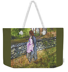 Weekender Tote Bag featuring the painting Our Lady Of Salem by Virginia Coyle