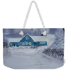 Our Little Cabin In The Snow Weekender Tote Bag