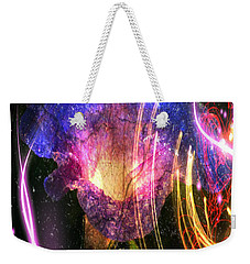 Weekender Tote Bag featuring the digital art Our Love Is Now Forever Entwined by Absinthe Art By Michelle LeAnn Scott