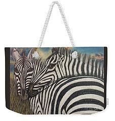 Our Stripes May Be Different But Our Hearts Beat As One Weekender Tote Bag