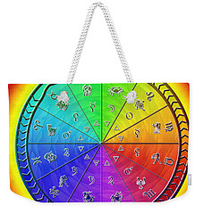 Ouroboros Alchemical Zodiac Weekender Tote Bag