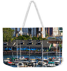 Out At The Harbor V3 Weekender Tote Bag