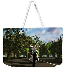Weekender Tote Bag featuring the digital art Out For A Ride... by Tim Fillingim