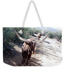 Out Of Africa  Long Horns Weekender Tote Bag