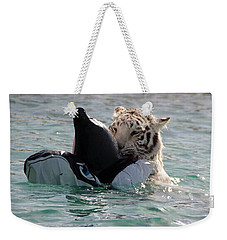 Out Of Africa Tiger Splash 4 Weekender Tote Bag
