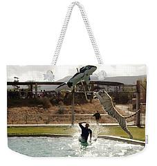 Out Of Africa  Tiger Splash 6 Weekender Tote Bag