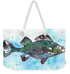 Weekender Tote Bag featuring the painting Out Of School by Barbara Jewell