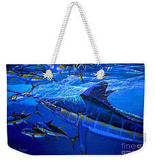 Out Of The Blue Weekender Tote Bag by Carey Chen