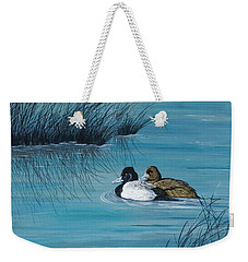 Out Of The Blue Weekender Tote Bag