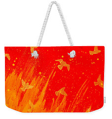 Out Of The Fire Weekender Tote Bag