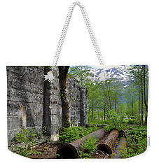 Weekender Tote Bag featuring the photograph Out From The Past by Cathy Mahnke
