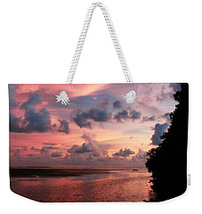 Out With A Roar Sunset Over Water Tarpon Springs Florida Weekender Tote Bag