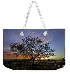 Weekender Tote Bag featuring the photograph Outback Sunset  by Ray Warren