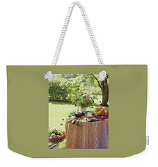 Outdoor Lunch In The Shade Of A Tree Weekender Tote Bag