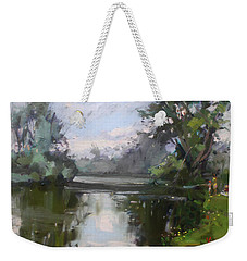 Outdoors At Hyde Park Weekender Tote Bag by Ylli Haruni