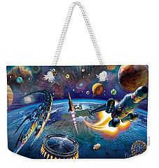Outer Space Weekender Tote Bag by Adrian Chesterman