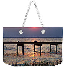 Weekender Tote Bag featuring the photograph Outerbanks Nc Sunset by Sandi OReilly