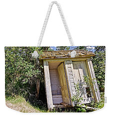 Outhouse For Two Weekender Tote Bag by Sue Smith