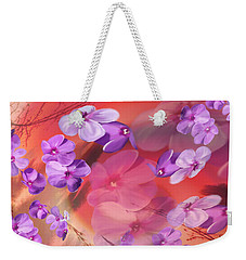 Weekender Tote Bag featuring the painting Outside Inspirations by Janie Johnson