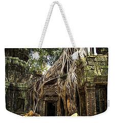 Overgrown Jungle Temple Tree  Weekender Tote Bag by EricaMaxine  Price