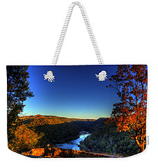 Weekender Tote Bag featuring the photograph Overlook In The Fall by Jonny D
