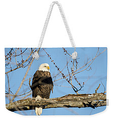 Weekender Tote Bag featuring the photograph Overlooking Freedom by Steven Santamour