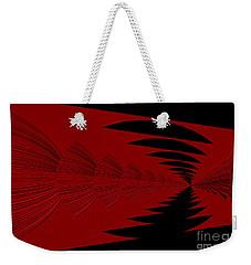Red And Black Design Weekender Tote Bag