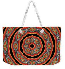 Weekender Tote Bag featuring the photograph Orange Black  Beautiful Design. Art by Oksana Semenchenko