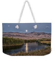 Owens River Moonrise Weekender Tote Bag