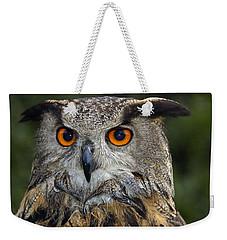 Owl Bubo Bubo Portrait Weekender Tote Bag by Matthias Hauser