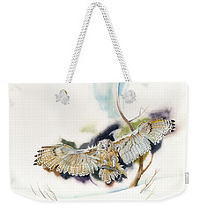 Owl Catches Lunch Weekender Tote Bag by John Norman Stewart