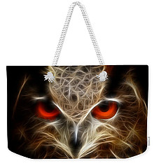 Owl - Fractal Artwork Weekender Tote Bag by Lilia D