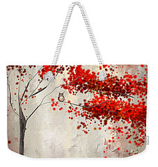Owl In Autumn Weekender Tote Bag